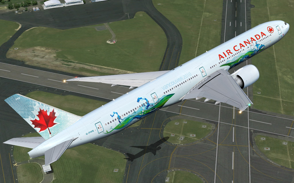 Air canada vancouver 2010 b777 available for fsx fs9 along with others da c